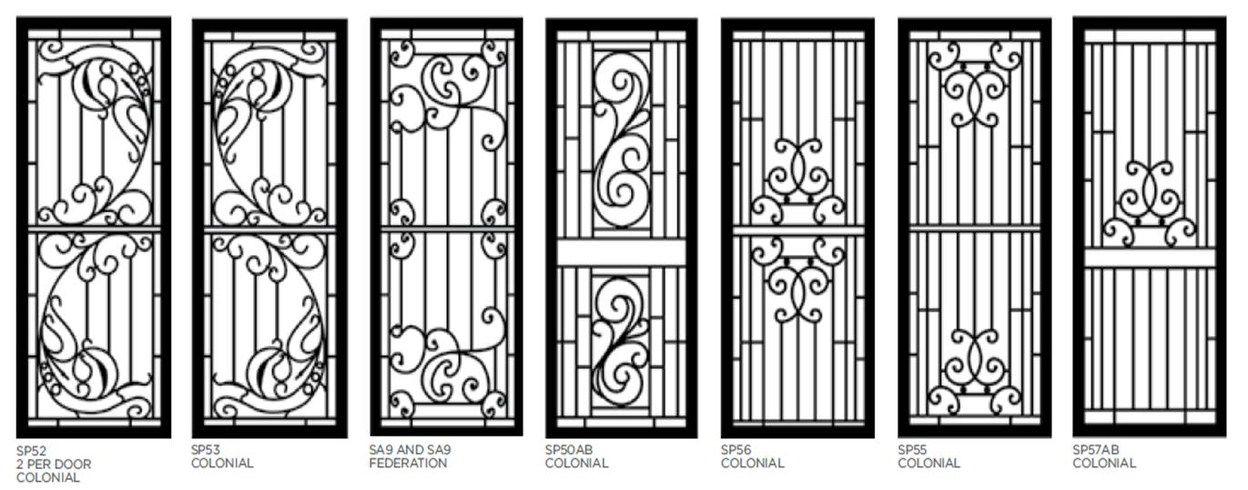 Decorative Aluminium Security Doors Bulleen Screens